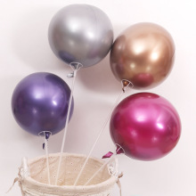 1pc 18inch Metal Bobo Balloon Metallic Color Bubble Balloons Birthday Party Wedding Decoration Helium Inflatable Latex