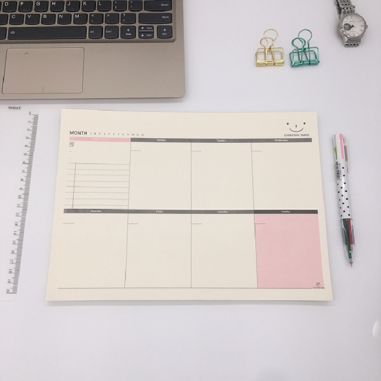 A4 52Pages Week Planner Notepad, Large Working Memo Pad Check List, Office Desk Organizer Notebook