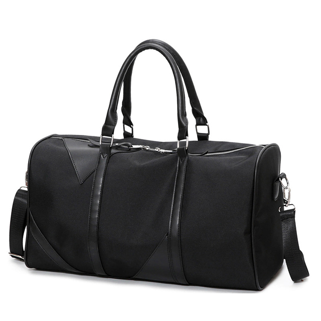 New Black Sports Fitness Gym Bag Women Waterproof Oxford Tote Handbags Shoulder Crossbody Bags Travel Duffle