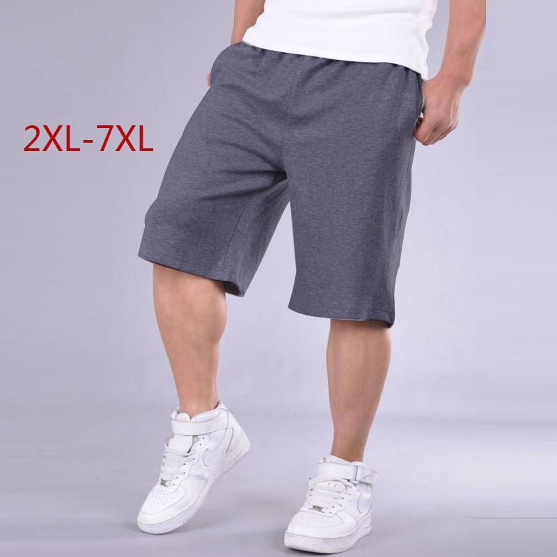 Big Size   Shorts   Men Solid Baggy Loose Elastic   Shorts   Cotton Casual Plus Size   Shorts   Extra Large Big Plus Size 4XL 5XL 6XL 7XL 20