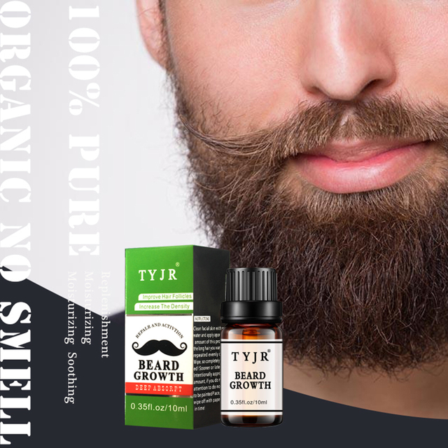 1PC Beard Growth oil Beards Hair Thicker Essence Mustache Thick Sideburn Treatment Sunburst Alopecia Serum Beard Shaping TSLM1 1