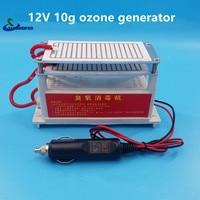 12 V voiture 10g générateur d'ozone voiture machine voiture stérilisation de désinfection ozone fumée odeur odeur formaldéhyde brume pm2.5