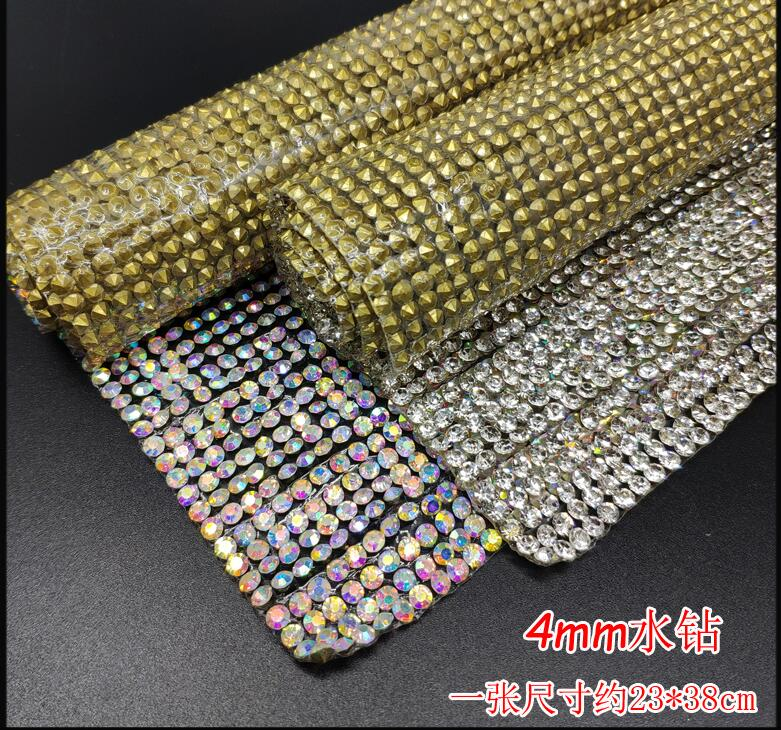 Genossenschaft 2,5mm 4mm Kristall/ab Strass Trimmen 1 Teile/los 24x40 Cm Strass Dekoration Trim Strass Banding Applique Diy Schmuck Hell In Farbe