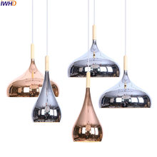 IWHD Modern Nordic LED Pendant Lights Iron Silver Hanglamp RH Loft Hanging Lamp Fixtures For Home Lighting Luminaire Suspendu