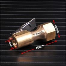 Araba yedek parçaları oto araç 1/4 ''/15mm iç tel vana ağız hava kompresörü pompası konnektörü için tüm tipi lastik enflasyon