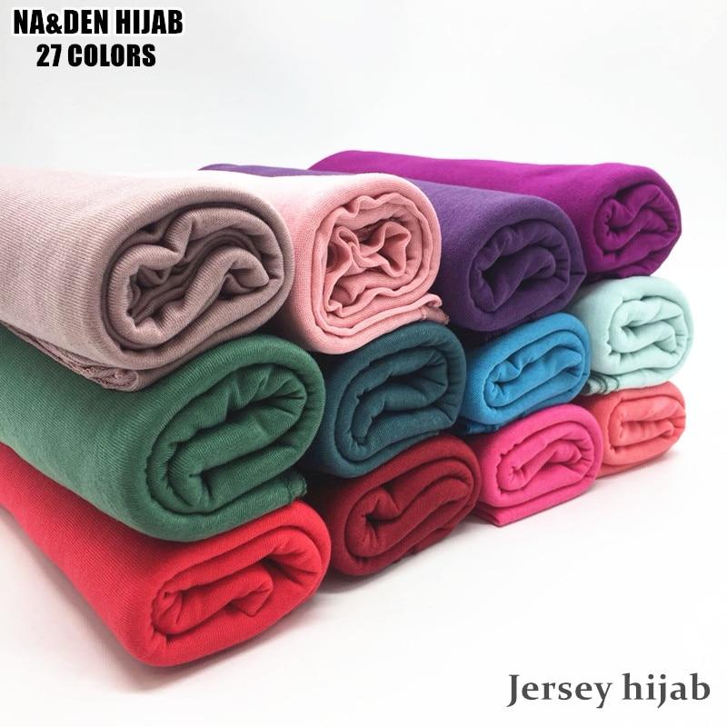 Fashion Jersey Scarf Shawl Cotton Plain Elasticity Scarves Maxi Hijab Long Muslim Head Hijabs Wrap Long Size Muffler 10pcs/lot