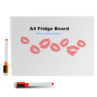 A4 Dry Erase Flexible Magnetic Whiteboard Message Board Memo Pad Dialog Box Magnet Magnetic Whiteboard With