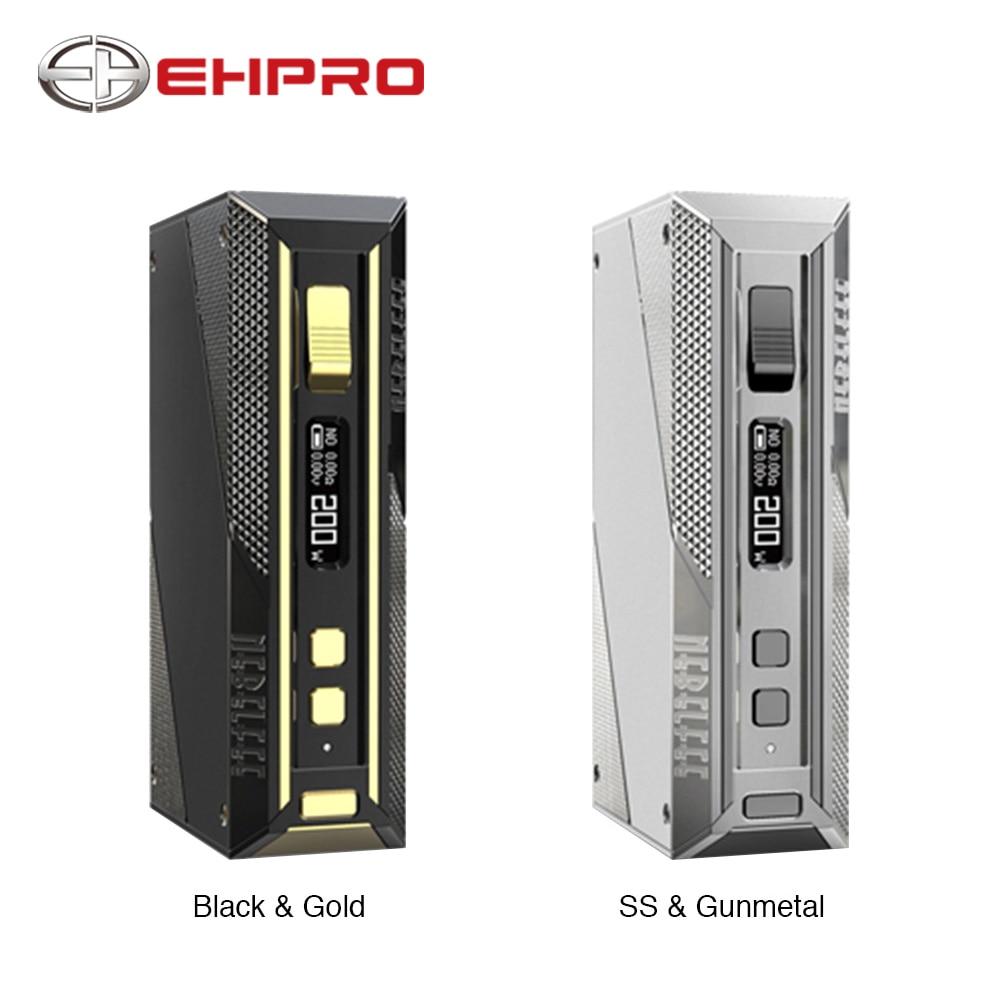 New Original Ehpro Aço Frio 200 Caixa MOD com 200W max saída TC Nenhuma Caixa Vape Mod 18650 Bateria vaporizador