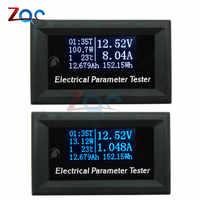 33V 10A 3A 7en1 OLED probador multifunción voltaje corriente tiempo capacidad voltímetro de potencia amperímetro medidor eléctrico