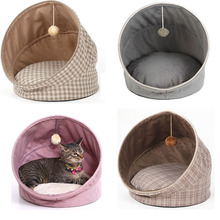 HIPET Cat house bed pet products Foldable small puppy kennel cat Tents With Ball Play Toys warm cotton Cushion Sleeping mat