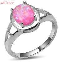 Pierścień Weinuo Różowy Ogień Opal 925 Sterling Silver Najwyższa Jakość Fantazyjne biżuteria Ślubna Pierścionek Rozmiar 5 6 7 8 9 10 11 A441
