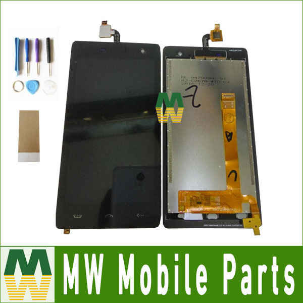 1PC /Lot High quality For Homtom HT20 LCD Display+Touch Screen Digitizer Black  Color with tools+tape