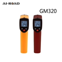 купить Digital GM320 Infrared Thermometer Non Contact Infrared Thermometer Pyrometer IR Laser Temperature Meter Point Gun -50~380degree по цене 560.13 рублей