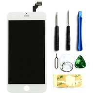 For IPHONE 6 LCD Black White Display Touch Screen Front Glass Digitizer Glass Assembly White Incl