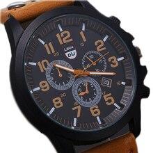 Men'S Luxury Watches Liandu Brand Fashion Sports Watches Quartz Watch Casual Military Waterproof Leather Watch Wrist Watch Cool