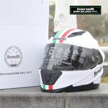 อิตาลี1911ของแท้BENELLI Benelliกระบอกรถจักรยานยนต์แข่งหมวกกันน็อกปิดถนนH Uanglong