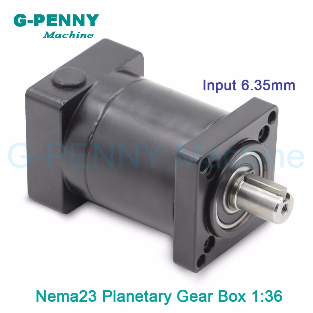 End of the year clearance!Nema23 stepper motor planetary reduction ratio 36:1 planet input shaft 6.35mm gearbox 57 motor reducer the ocean at the end of the lane