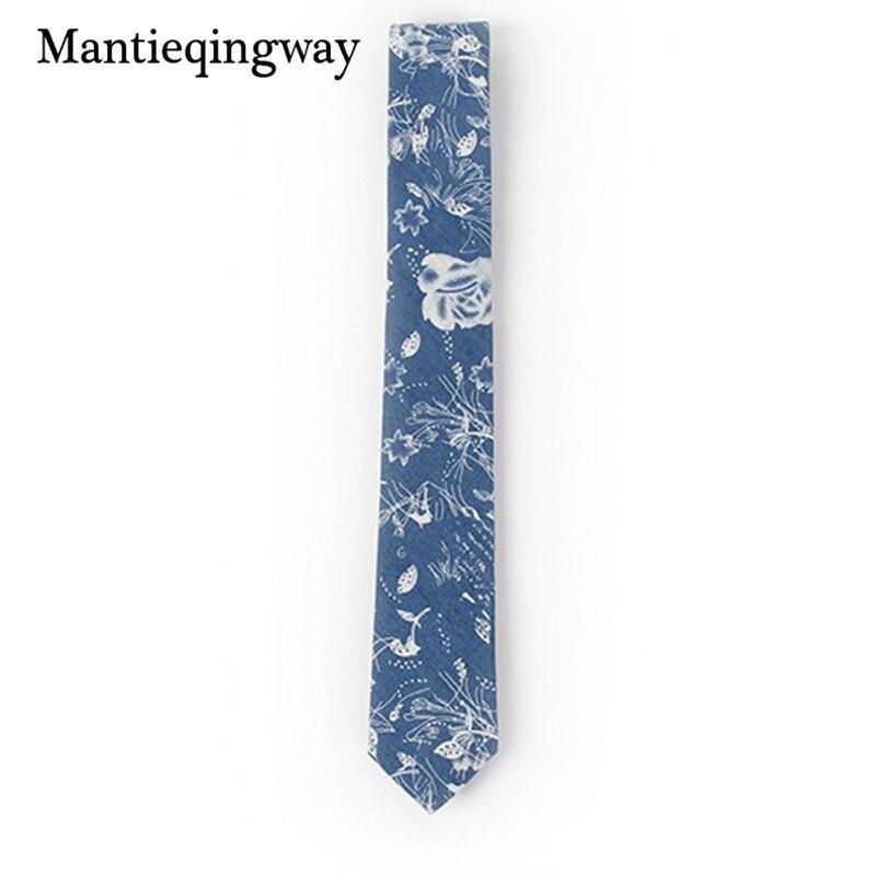 Mantieqingway 6,5 cm kokvilnas apdruka - vīriešu kaklasaite kāzu - Apģērba piederumi - Foto 2