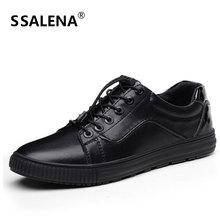 Men Soft Leather Casual Shoes Male Solid Lace-up Retro Breathable Shoes for Mens Non-slip Sneakers Flats Shoes AA11555