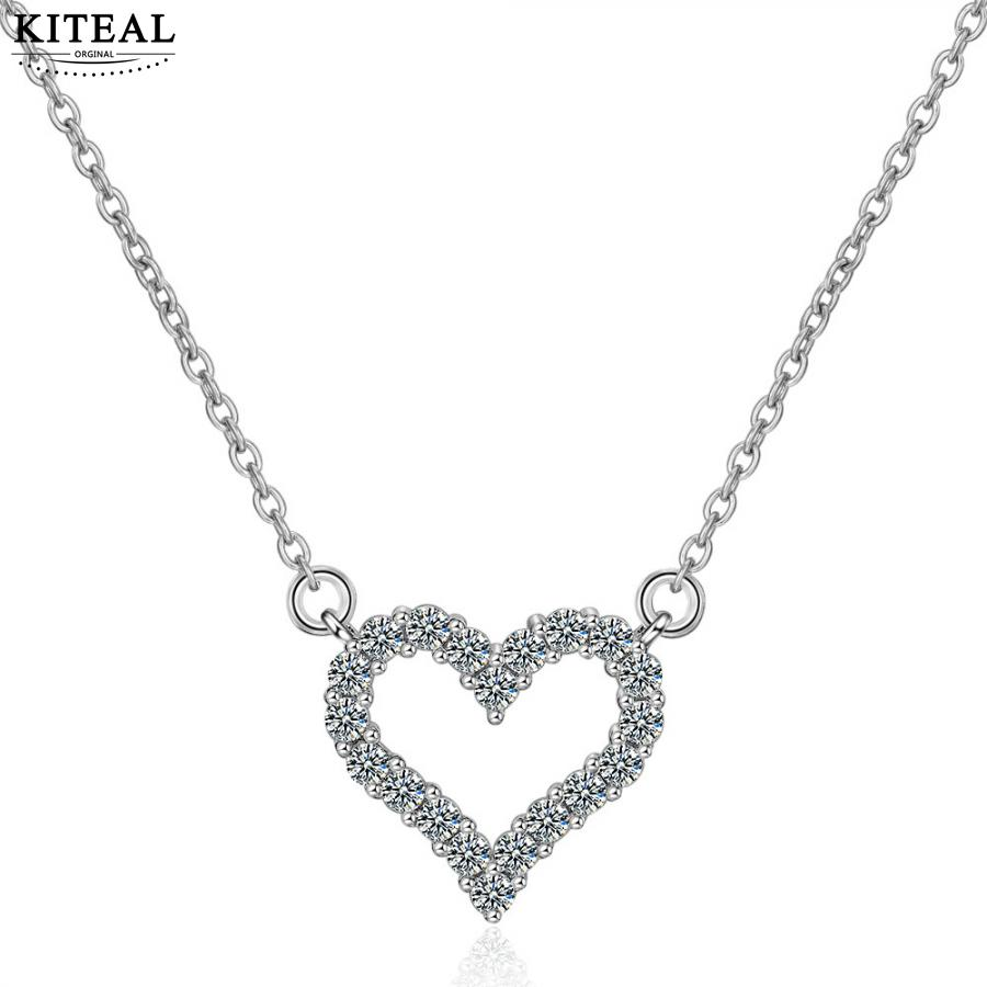 5cm Acrylic Love Heart Necklace with 45cm Chain Various Colours