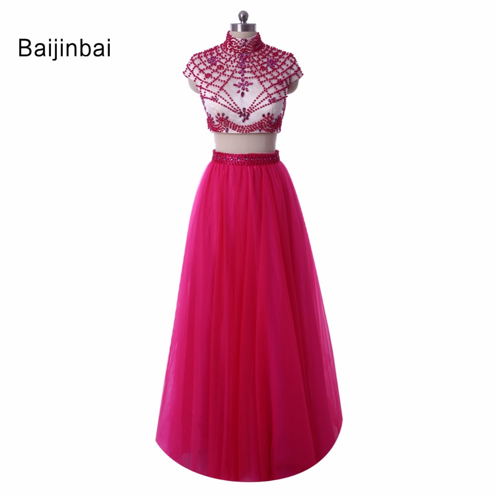 Baijinbai New Style Long Evening font b Dress b font Beading font b Prom b font