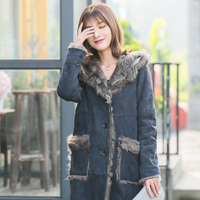 2018 new winter fur coat Elegant women real fur coat Sheep fur coat fur jacket winter overcoat MW1746