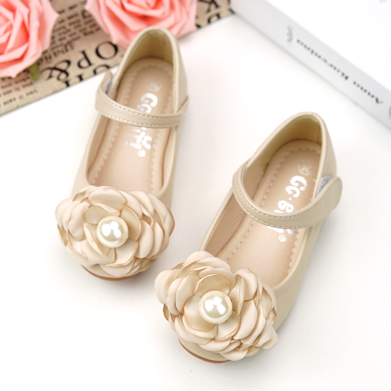 Girl Children Toddler Kids Flower Shoes Princess Girl Shoes Bow Flat Dress Party