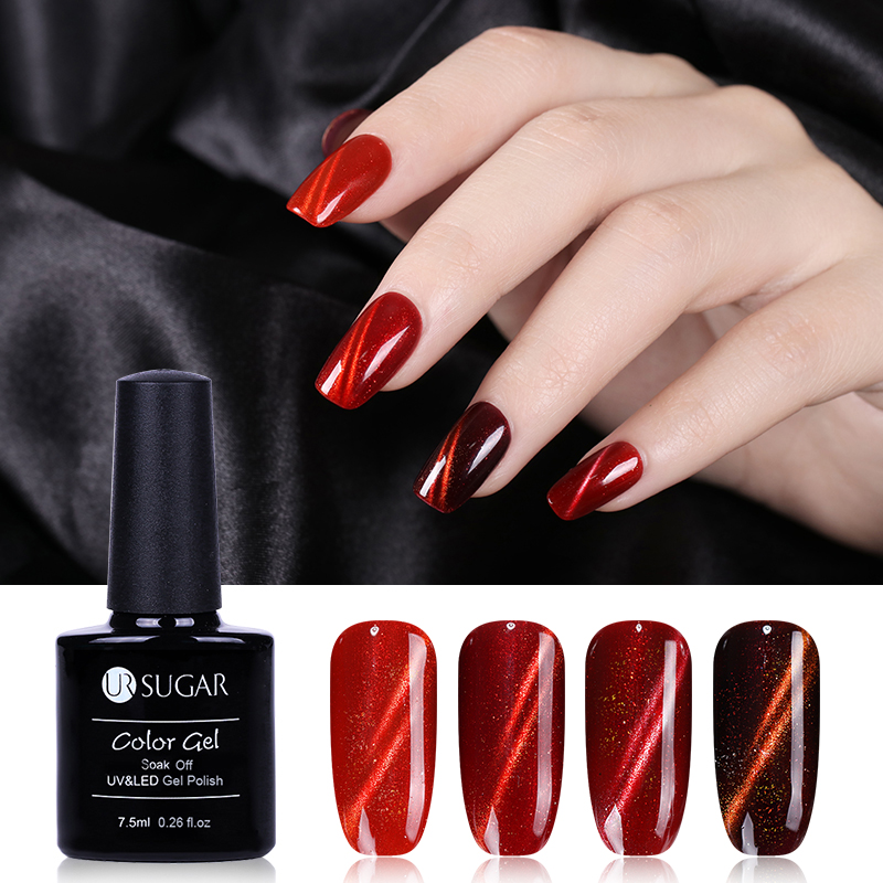 UR SUGAR 4 Bottles 7.5ml Cat Eye UV Gel Polish