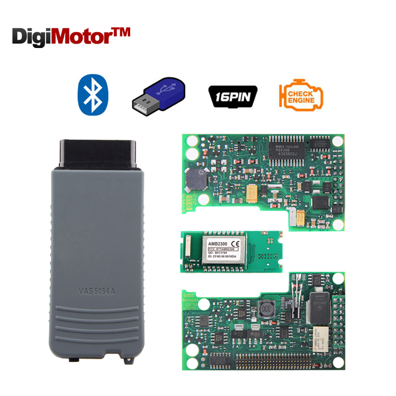 Digimotor VAS 5054A Full Chip OKI AMB2300 UDS ODIS v4 0 0 OBD2 Bluetooth Adapter VAS5054A