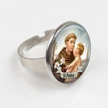 St Anthony of Padua Saint Ring St Anthony Jewelry Cabochon Religious Religious Gift Ring anthony j steinbock phenomenology and mysticism the verticality of religious experience