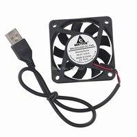 50 штук в партии Gdstime 60 мм 60x60x15 мм 6 см DC 5 В 2Pin USB разъем Бесщеточный Охлаждающий вентилятор