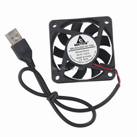50 Pieces lot Gdstime 60mm 60x60x15mm 6cm DC 5V 2Pin USB Connector Brushless Cooling Cooler Fan