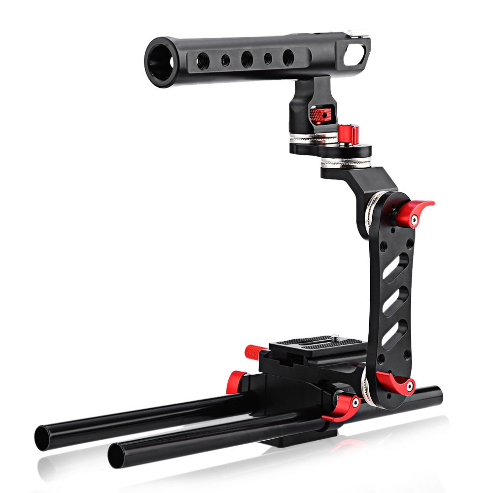 WEIHE WH350 Motorized Follow Focus Zoom Control Video Shoulder Rig for Canon Sony DSLR Camera