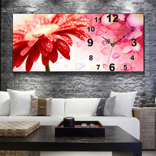 Full Drill, Diamond Painting Cross Stitch, Flower, Diamond Embroidery, Large Wall Clock Paintings, Hotel, Home Decoration
