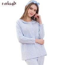 4c784f8bf Fdfklak caliente Casual traje para las mujeres embarazadas pijamas de  algodón invierno ropa de embarazo lactancia