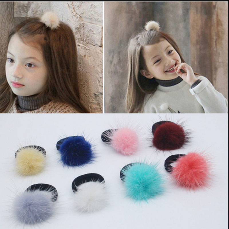 M MISM Korean Artificial marten Ball hair Elastic Band Ponytail Holder Girl Kids Scrunchy Hair Accessories Gift Gum for Hair m mism korean artificial marten ball hair elastic band ponytail holder girl kids scrunchy hair accessories gift gum for hair