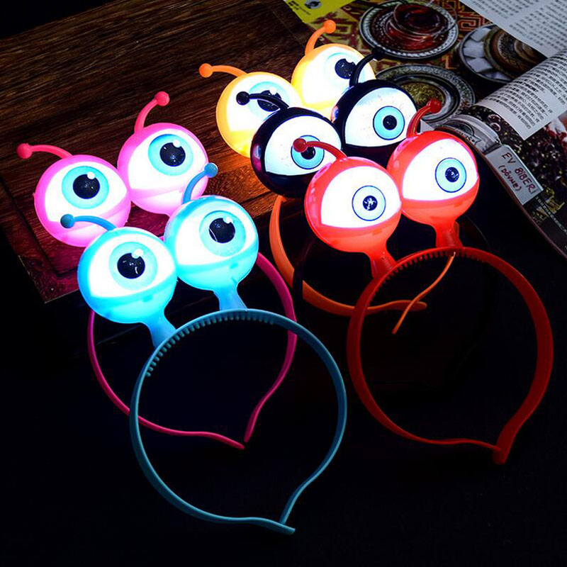 Hot Creative Kids Adults Light Up Luminous Glowing Big Eyes Alien Cosplay Toy Hairband Show Concert Party Dress Christmas GiftsHot Creative Kids Adults Light Up Luminous Glowing Big Eyes Alien Cosplay Toy Hairband Show Concert Party Dress Christmas Gifts