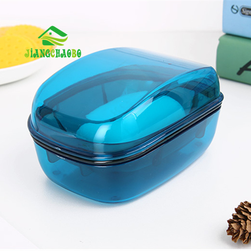JiangChaoBo Peti Sabun Telus Bilik Mandi Tandas Basuh Sabun Kotak - Organisasi dan penyimpanan di dalam rumah - Foto 1
