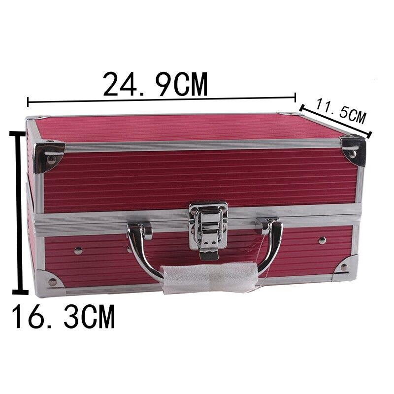 Makup Tool Kit scatola di Alluminio Tra Cui Luccichio Matte Eyeshadow Rossetto Correttore Blush, fard Spazzola di Trucco del Corredo Cosmetico Maquiagem - 6