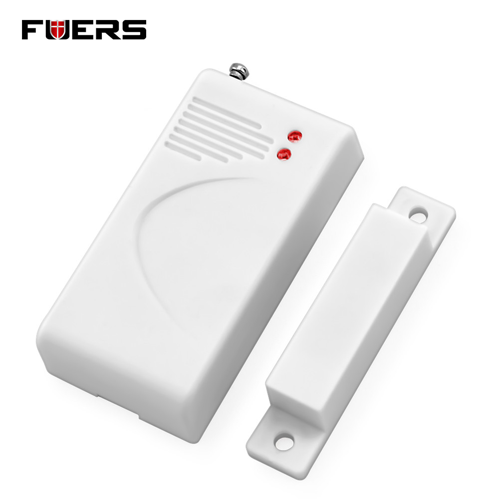 Fuers Wireless Door Sensor Home Security Alarm System Door Detector Cabinet Window Magnetic Door Contact 433mhz With Battery