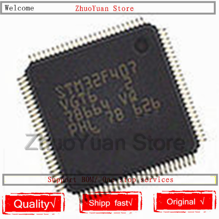1PCS/lot New Original STM32F407VGT6 LQFP100 STM32F407 VGT6  IC Chip
