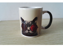 Heat Sensitive Color – Changing Mug Cup with Cute Cat