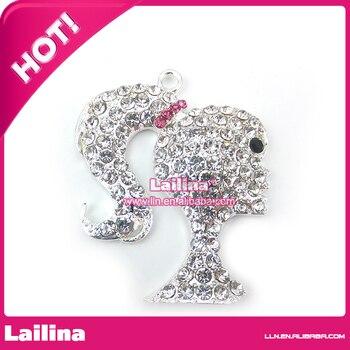 Rhinestone Chunky Head Pendant & Charm for Necklace / Bubblegum Pendants