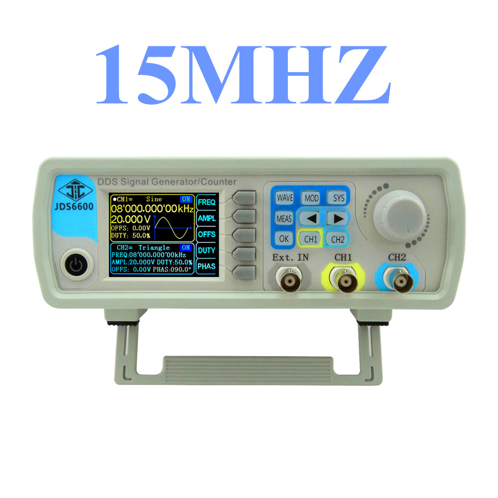 JDS6600 Series Digital Control Signal Generator Dual-channel DDS Function  Arbitrary sine Waveform frequency meter 15MHZ  46%off hantek dso4202c digital storage oscilloscope 2ch 200mhz 1 channel arbitrary function waveform generator factorydirectsales