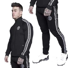 2 Piece Sport Suit Running Men Clothing Set Gym wear Tracksuit Fitness Body building Hoodies+Pants Jogger