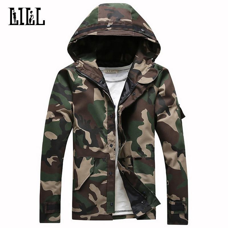 군사 위장 재킷 후드 봄 코 튼 군대 남성 카 모 코트 느슨한 남자 재킷 남자 남자 전술 재킷, UA179