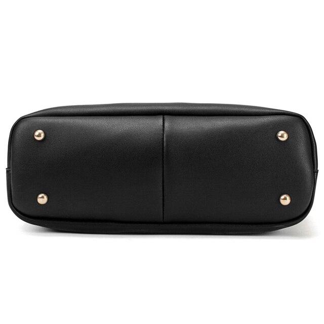 Women's PU Leather Tote Bag - Handbag With Purse Pocket Women Shoulder Large Tote Bag 3