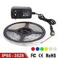 NEW LED Strip Light Waterproof IP65 SMD3528 Single Color 300LEDs 5m Flexible Lamp Light,DC12V Power Supply 2A High Quality EU/US