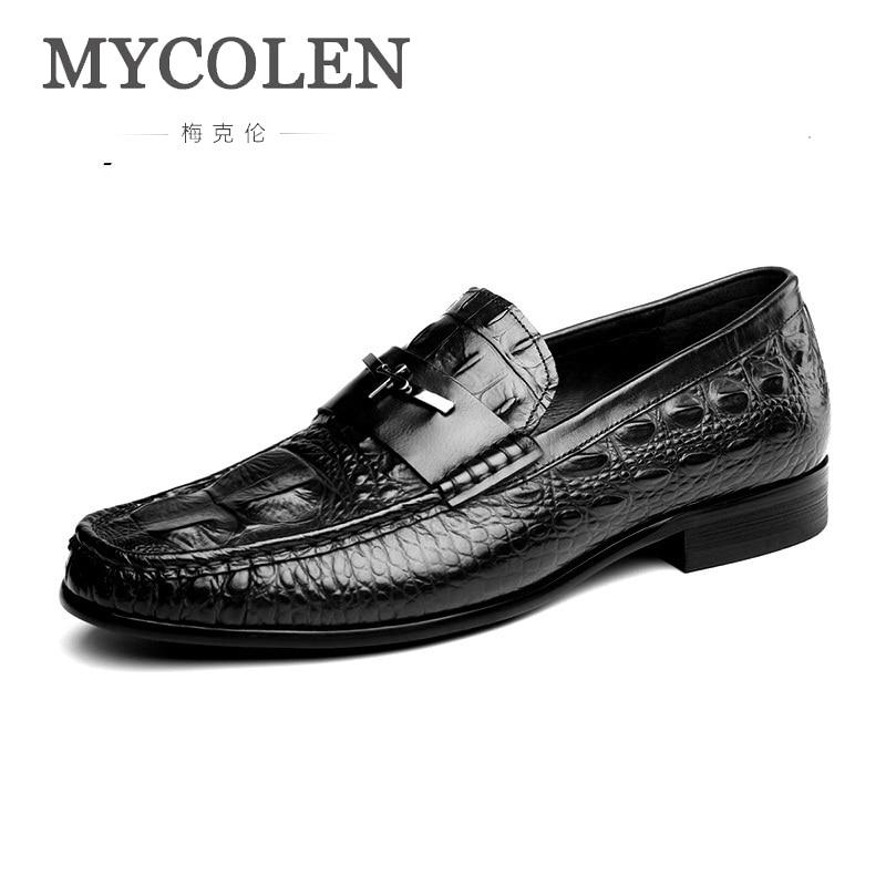MYCOLEN Новинка 2019 года для мужчин Высокое качество туфли под платье кожа Дизайнеры жениха свадебные туфли обувь в итальянском стиле Zapato Hombre