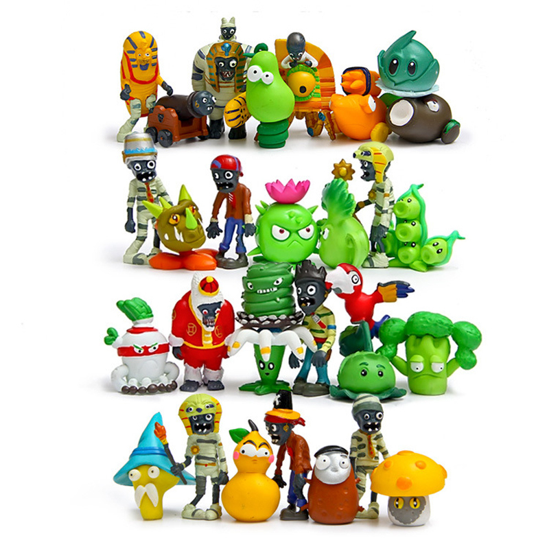 30pcs/lot Plants vs Zombies Figures Toys PVZ Plants and Zombies PVC Action Figure Collection Model Toy Doll for Chritmas Gifts new 10cm kids toys pvz plants vs zombies peashooter pvc action figure model toy plants vs zombies toys for baby gift